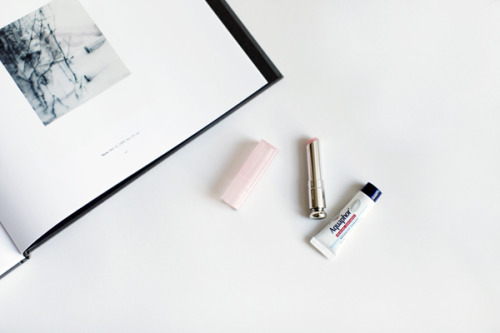 decadediary:  Cold weather beauty: Gerhard Richter Snow, Dior Lip Glow, Aquaphor Blog Post: Lip Service « Photo by Decade Diary