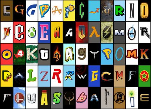 rainbow-tentacles:  video game font quiz! answers below, can't believe how many obvious ones i missed.  i only managed 17 D: the ones i managed (all the piss easy ones)  are in bold Minecraft God of War Gran Turismo Viva Pinata Rage WarioWare Touched Castlevania Starfox Unreal Super Mario 64 Final Fantasy    HOW DID I MISS THIS ONE? L.A. Noire Earthworm Jim Guitar Hero Yoshi's Island Tetris Street Fighter Far Cry Doom.. no how did i miss THIS one :O  Half Life Fallout Mass Effect Ghost Trick Rock Band Sonic Left 4 Dead Pikmin GTA Diablo Angry Birds Little Big Planet Crysis Pokémon Portal Rayman (actually kicking myself)  Mortal Kombat Pac-Man HaloLemmings Zelda Metal Gear Solid Out Run Gears of War Mega Man Contra Monkey Island Fable Donkey Kong Prince of Persia Super Smash Bros… SHIT Uncharted Space Invaders Plants vs Zombies i am legit embarrassed i got this one.  Quake Kirby Starcraft Resident Evil 4 Professor Layton The Sims Deus Ex - Human Revolution