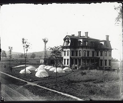 """View of Carl Myers' ""Balloon Farm,"" circa 1892"" (via)"