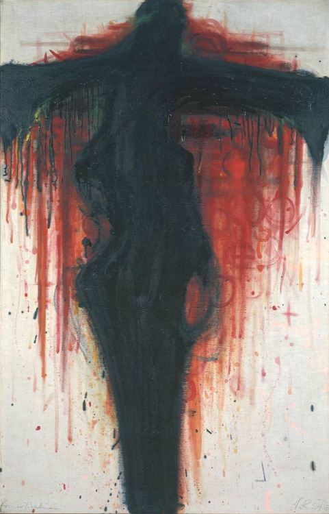 nuclearharvest:  Wine Crucifix by Arnulf Rainer