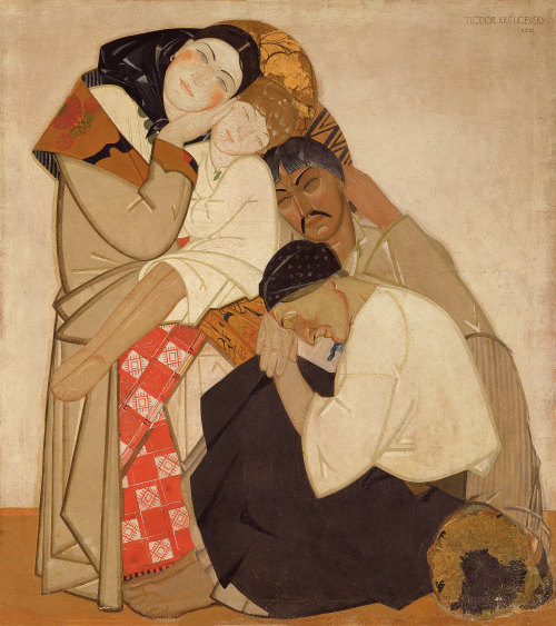 zolotoivek:  Fyodor Krichevsky - Family, from the Triptych 'Life', 1925-27