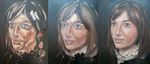 Charlotte (3 stages of painting)