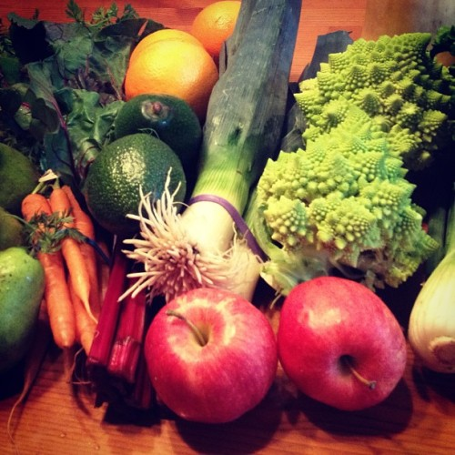 my first organic produce box has arrived! 😍