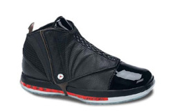 "The 100 Best Air Jordans of All Time 51. Air Jordan XVI ""Black/Red"" via complex.com"