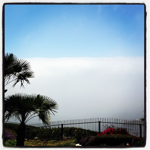 This, ladies and gentlemen, is known as a MARINE LAYER. See also: BULLSHIT.