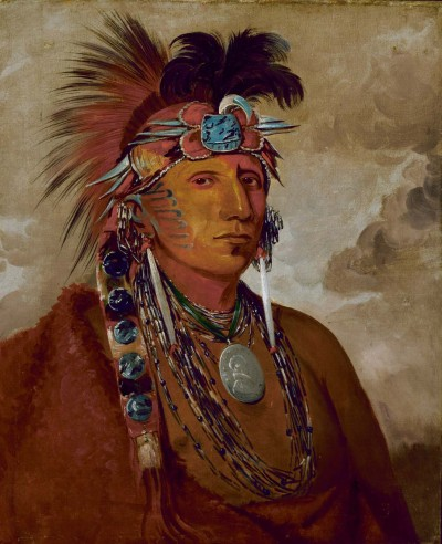 cavetocanvas:  George Catlin, Shó-me-kós-see, The Wolf, a Chief, 1832