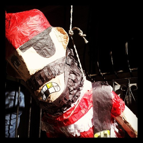 Pirate pinata died by the hand of an irishman's knife.