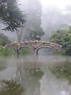 myviewfromsomewhere:  (via A Sorta Fairytale / Misty bridge)