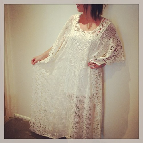 elementsboutique:  Kind of can't get over this crazy good cream lace caftan #hippiechic #bohobabe #freespirit #gypset #mamacass (at Elements)  for your consideration