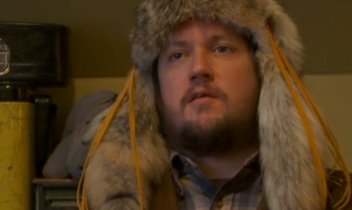 returnoftherat:  Isaac Brock in a hat made out of a deer