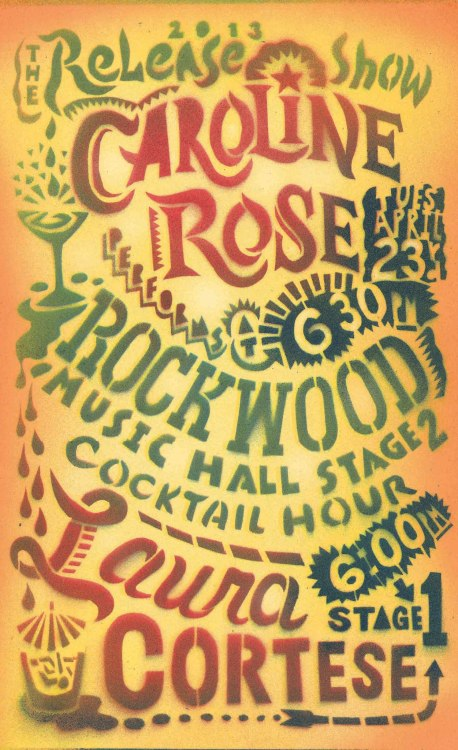 "emmygproductions:  CAROLINE ROSE AT THE ROCKWOOD MUSIC HALL TUESDAY, 4/23/13 AT 6:30 PM (EASTERN) We've got some important people coming out to hear our early show at Rockwood Music Hall on Tuesday and would love to pack the place with some new and familiar faces! This is a post-work, I-need-a-drink-to-wind-down single release show at 6:30pm (Eastern Time) on Tuesday, April 23! To show our love for all our NYC fans we're making the show FREE and will be giving out advance copies of ""America Religious"" at pay-your-own-price! Tuesday, 4/23/13 At 6:30pm (Eastern Time) Rockwood Music Hall 196 Allen St. New York, New York 10002 www.rockwoodmusichall.com"
