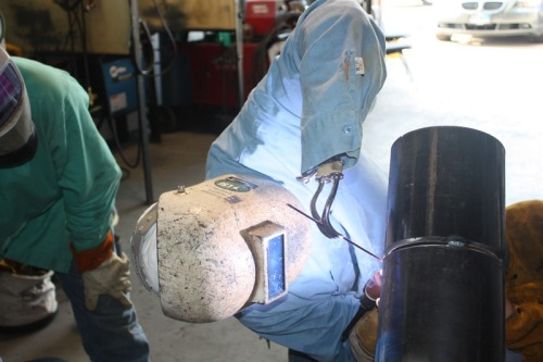 americanweldingsociety:  This inspiring photo comes from the Industrial Welding Academy in Houston, TX. A reddit user said the man in the photo was a fire lookout who wanted to be something more. The director of the Academy took him under his wing and taught him how to weld. As you can see, his disability is not holding him back. It just goes to show you - there are no excuses for not following your dreams.