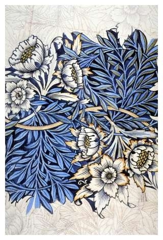 foxontherun:  (via William Morris…. #blue | pattern :: indigo etc.)