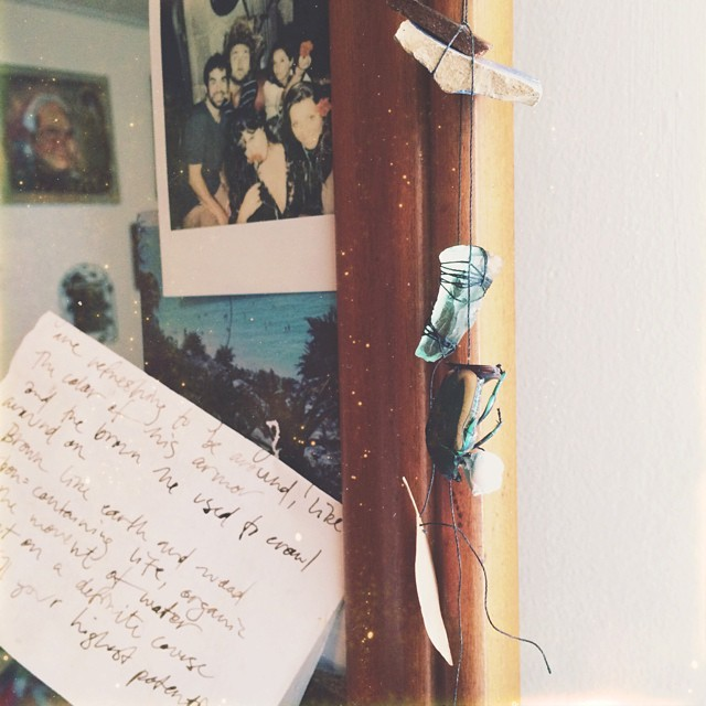 This morning I received the most beautiful letter and wind chime from a dear friend far away. Feeling blessed and inspired in the best kind of way! X #loveandletters