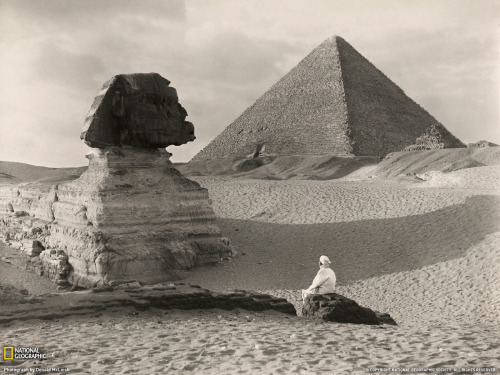 vintagenatgeographic:  Great Sphinx, Egypt (1921) Photograph by Donald McLeish. National Geographic Society.