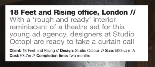 18 Feet & Rising's new offices featured in FX Magazine, click for link to digital version.