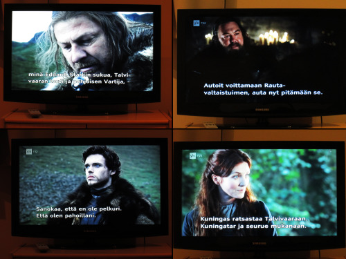 "Game of Thrones with finnish subtitles. I mean: GAME OF THRONES with FINNISH subtitles. ""Brace yourself orgasm is coming"" \*__*/"