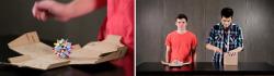 Design creativ pentru o cutie din carton.Comparație viteză de închidere între o cutie BAX și o cutie cu autoformare.