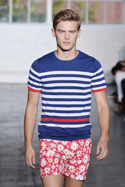 wgsn:  We can't look away from the bright coloured mixed prints of @parkeandronen for #NYFW #SS15