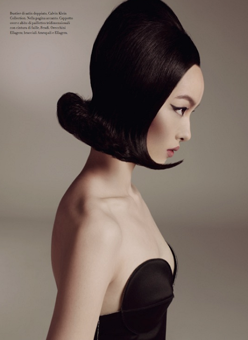 Fei Fei Sun photographed by Steven Meisel for Vogue Italia