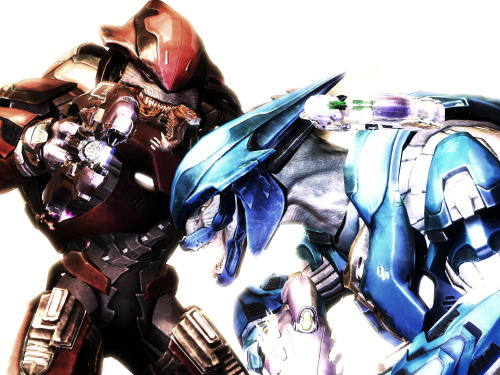 anodynegeno:  Red vs Blue. An old cap back from… wait for it… the Reach Beta! Man, those were some times.