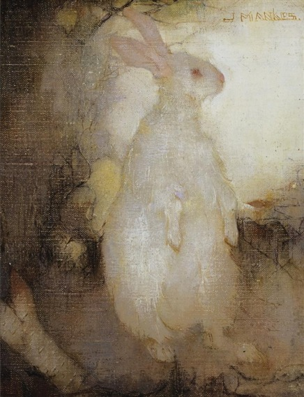 artemisdreaming:  Wit Konijn, Staand (Lapin Blanc, Debout)   Jan Mankes