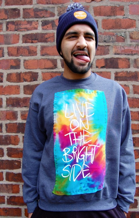 zkhlq:  NEW SWEATSHIRTSSSS, http://keepitbright.bigcartel.com/  Definitely just bought one of these, they're so awesome. I like the whole positivity movement thing behind it too. 'A clothing brand and a way of living'