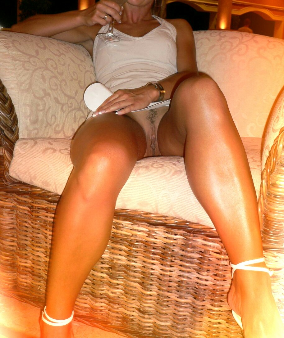Milf wife summer dress upskirt