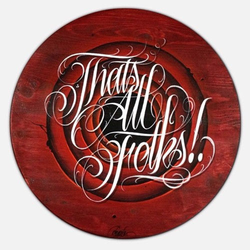 (vía Typeverything.com That's All Folks! – Acrylic on wood by…)