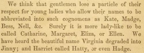 ~ The Ladies' Guide to True Politeness and Perfect Manners; or, Miss Leslie's Behaviour Book, a Guide and Manual for Ladies, by Eliza Leslie, 1864via Open Library