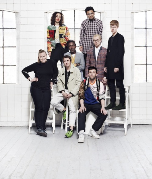 NEWGEN MEN: ANNOUNCE RECIPIENTS FOR SPRING/SUMMER 2014 Loving this group portrait, arriving with the announcement of S/S 14's NEWGEN MEN recipients. It's somewhere between a 'class of' year book shot, and a Smash Hits pull out. I digress….Congratulations to Agi and Sam, Astrid Andersen, Lee Roach, Matthew Miller, Nasir Mazhar and Shaun Samson- all receiving catwalk sponsorship. As well as personal fave Martine Rose, from whom we can expect another amazing presentation. Need me one of them double layered denim jackets!  www.londoncollections.co.uk/men by Vincent Levy