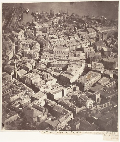 Earliest aerial photograph of an American city: Boston, 1860.