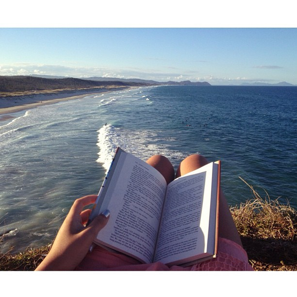 letting the wind turn your pages…. #serene #ocean