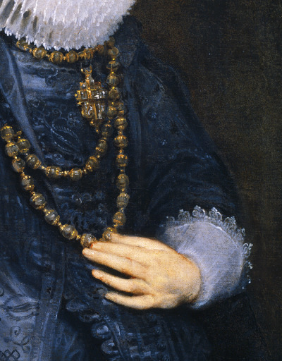 jaded-mandarin:  Anthony Van Dyck, 1628. Detail.
