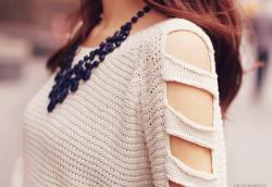 pretty my edits cute fashion sweater Korean fashion kfashion Asian fashion blouse necklace knit