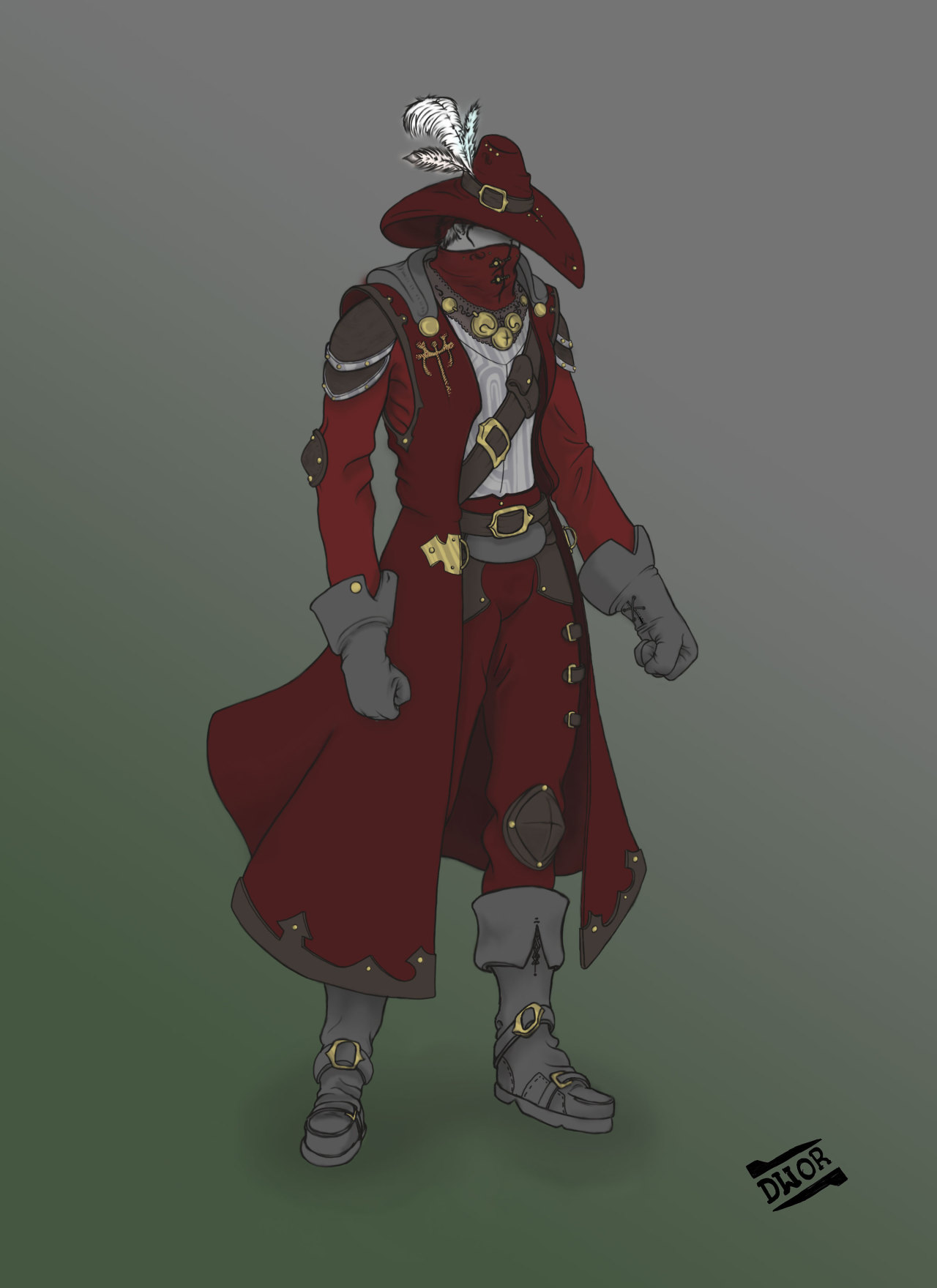 Duke Immo Devine, custom armor