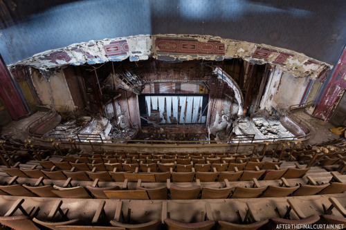 View from the upper balcony of Proctor's Palace Theatre.