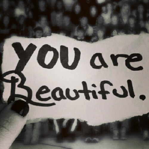 ashley5817:  Period. Point blank. Truth. Deal with it. #you #are #beautiful. #paper #blackandwhite #bw