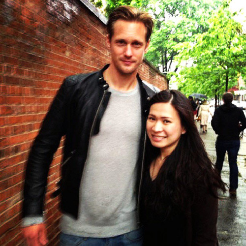 "santress:  ""Alex ko!hahaha #yesterday #soho #nyc #trueblood."" -raine_joyce @ instagr.am"