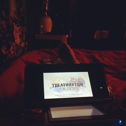 Playing a little bit of Theatrhythm while watching Battle Royale before I pass out. #Nintendo #finalfantasy #gaming #3DS #theatrhythmfinalfantasy