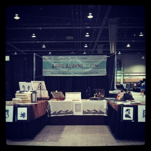 My booth! #derbyink #tattoo #convention #art