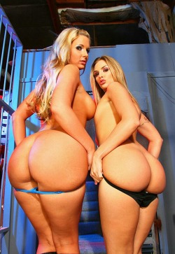 "scatter-my-dreams:  Sexy Backshots  ""Phoenix Marie & Brianna Love""  Follow me @ http://www.scatter-my-dreams.tumblr.com for the sexiest women, juiciest asses and the biggest tits."
