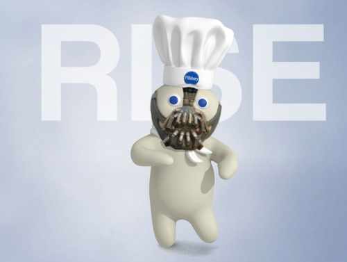 Pillsbury Doughboy meets Bane.