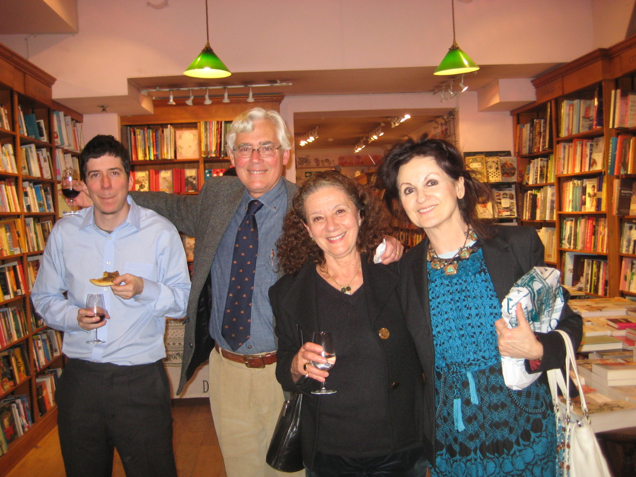 Here's a photo from the launch of Renaissance Emir. Author Ted Gorton with his wife Andree, his son Alex and Hanan al-Shaykh.