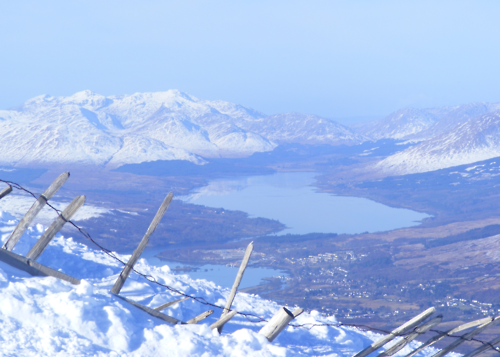 The view of Fort William taken from Aonach Mòr.