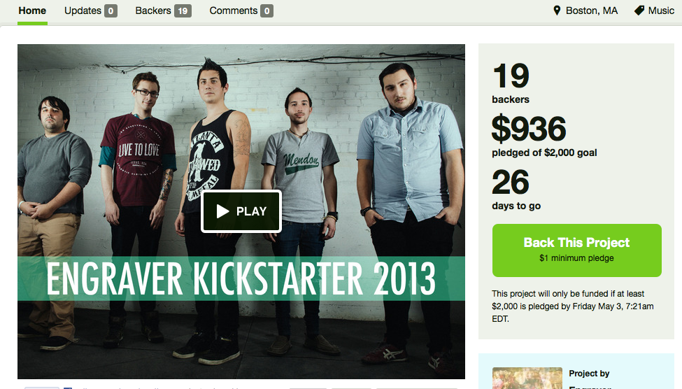 "My band Engraver's EP ""Rivisions"" is available for pre-order on kickstarter! We are just about half way to our goal. Help us out an snag a copy here: http://www.kickstarter.com/projects/engraverma/establish-grow-and-evolve"