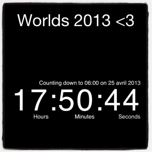 17 hours: 50 minutes: and seconds away <3 #worlds#cheerleading#2013#cant wait#orlando#florida#sun#team# love