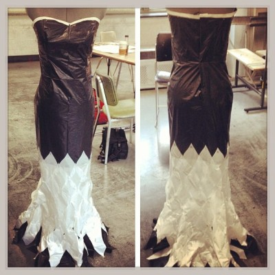 Finished piece! #fashion #dress #trashbag