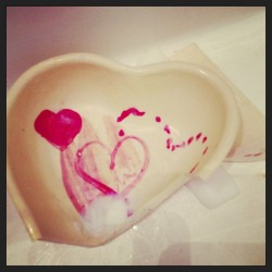 Hoyman Browe broken heart soap dish.