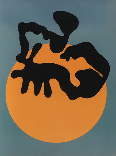 Not Far from the sun, the moon and the stars, Jean Arp